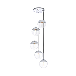 Eclipse Chrome 18-Inch Five-Light Pendant