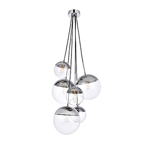 Eclipse Chrome 28-Inch Six-Light Pendant