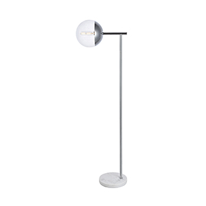 Eclipse Chrome 50-Inch One-Light Floor Lamp