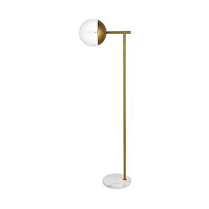 Eclipse Brass 50-Inch One-Light Floor Lamp