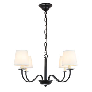 Eclipse Black Four-Light Chandelier
