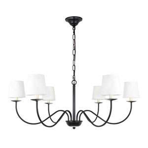 Eclipse Black Six-Light Chandelier