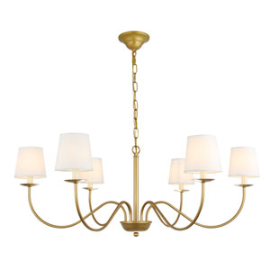 Eclipse Brass Six-Light Chandelier