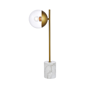 Eclipse Brass One-Light Table Lamp