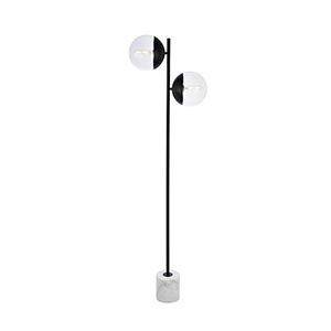 Eclipse Black Two-Light Floor Lamp