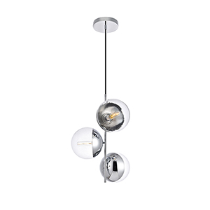 Eclipse Chrome 17-Inch Three-Light Pendant
