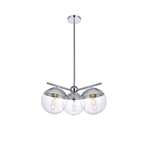 Eclipse Chrome 21-Inch Three-Light Pendant