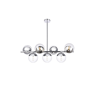 Eclipse Chrome 17-Inch Seven-Light Pendant