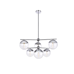 Eclipse Chrome 36-Inch Six-Light Pendant