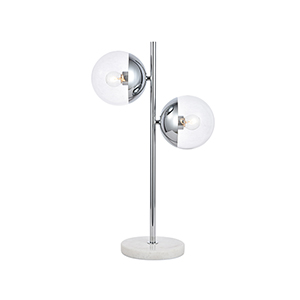 Eclipse Chrome Two-Light Table Lamp