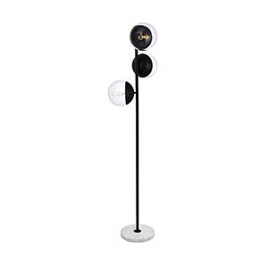 Eclipse Black Three-Light Floor Lamp