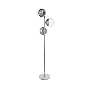 Eclipse Chrome Three-Light Floor Lamp