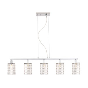 Taylor Chrome Five-Light Island Pendant