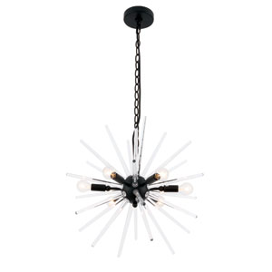 Horizon Black 20-Inch Six-Light Pendant