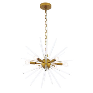 Horizon Brass 20-Inch Six-Light Pendant