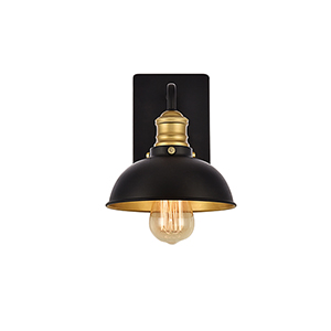 Anders Black and Brass One-Light Wall Sconce