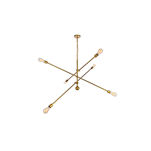 Axel Brass 55-Inch Six-Light Pendant