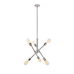 Axel Polished Nickel 17-Inch Six-Light Pendant