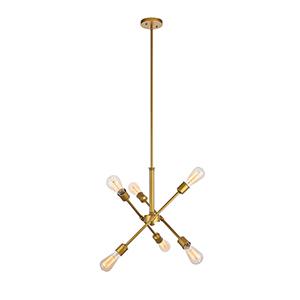 Axel Brass 17-Inch Six-Light Pendant