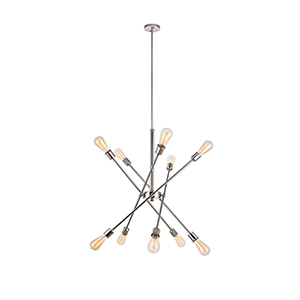 Axel Polished Nickel 10-Light Pendant