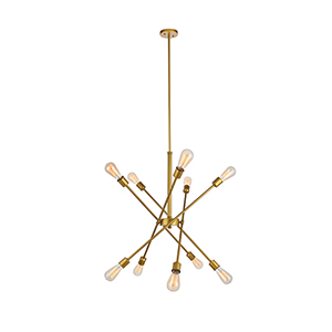 Axel Brass 10-Light Pendant