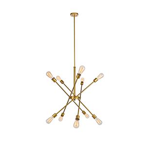 Axel Brass 10-Light Pendant