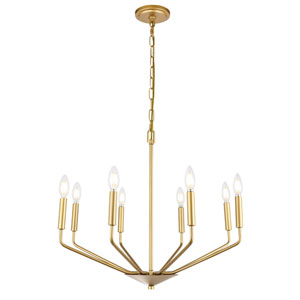 Enzo Brass Eight-Light Pendant