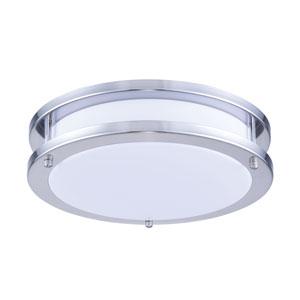 Daxter Nickel 12-Inch LED Flush Mount