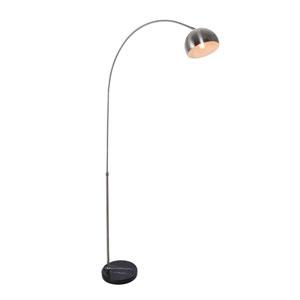 Arcis Satin Nickel Eight-Inch One-Light Floor Lamp