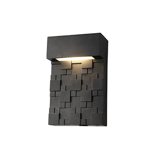 Black Nine-Inch LED Outdoor Wall Mount