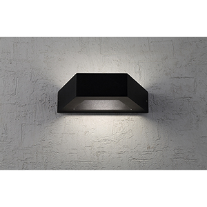 Black Four-Inch LED Outdoor Wall Mount