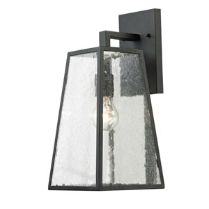 Osmond Matte Black Seven-Inch One-Light Outdoor Wall Sconce