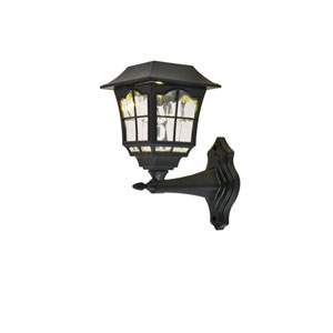 Oberon Black 4-Inch LED Outdoor Wall Sconce, Pack of Four