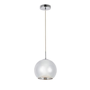 Reflection Chrome Nine-Inch One-Light Mini Pendant