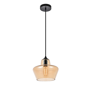 Collins Amber Nine-Inch One-Light Mini Pendant