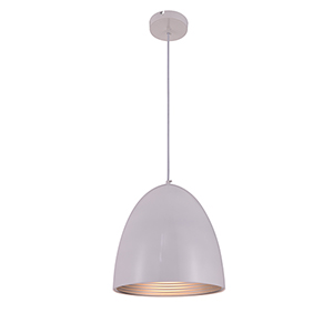 Circa Frosted White 12-Inch One-Light Pendant