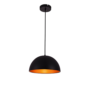 Circa Black Six-Inch One-Light Pendant