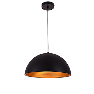 Circa Black Eight-Inch One-Light Pendant
