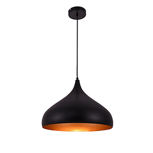 Circa Black 16-Inch One-Light Pendant