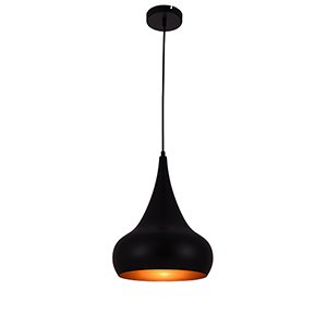 Circa Black 11-Inch One-Light Pendant
