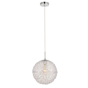 Lilou Chrome with Clear 11-Inch One-Light Pendant