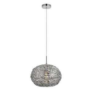 Lilou Chrome 12-Inch One-Light Pendant