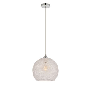 Lilou Chrome 10-Inch One-Light Pendant with Clear Glass