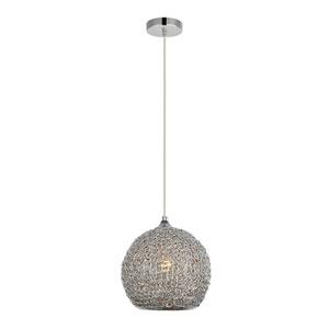 Lilou Chrome 10-Inch One-Light Pendant