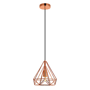 Jago Copper Nine-Inch One-Light Mini Pendant