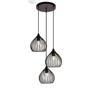 Sayer Black Three-Light Pendant