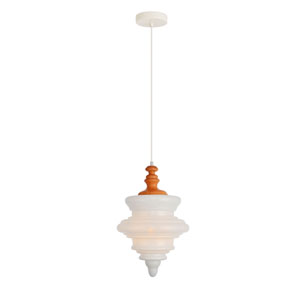 Topper Grain White 11-Inch One-Light Pendant