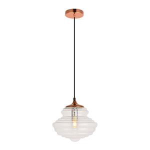 Topper Copper 11-Inch One-Light Pendant
