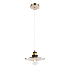 Piers Burnished Nickel Brass and White 10-Inch One-Light Pendant