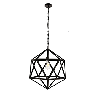 Redmond Black 19-Inch One-Light Pendant